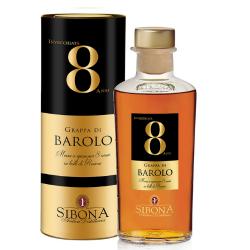 Sibona grappa Barolo 8y 44%...